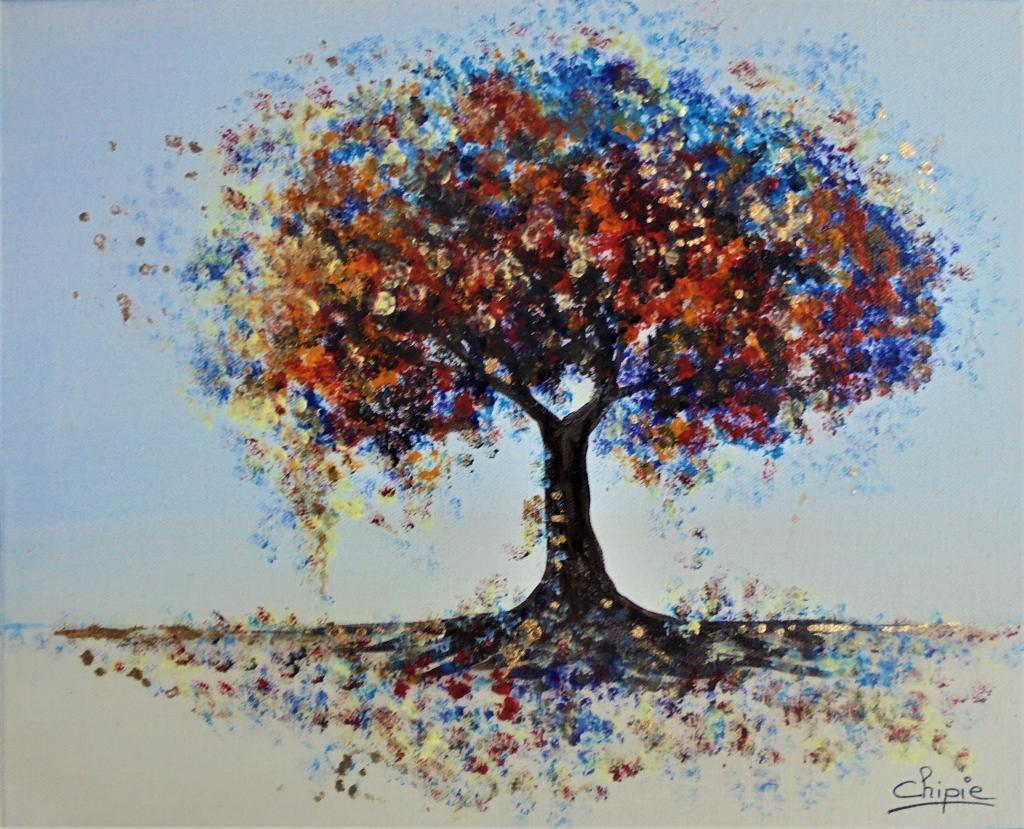 Peinture Arbre Multicolore Du Peintre Chipie Sur Exposition Peinture