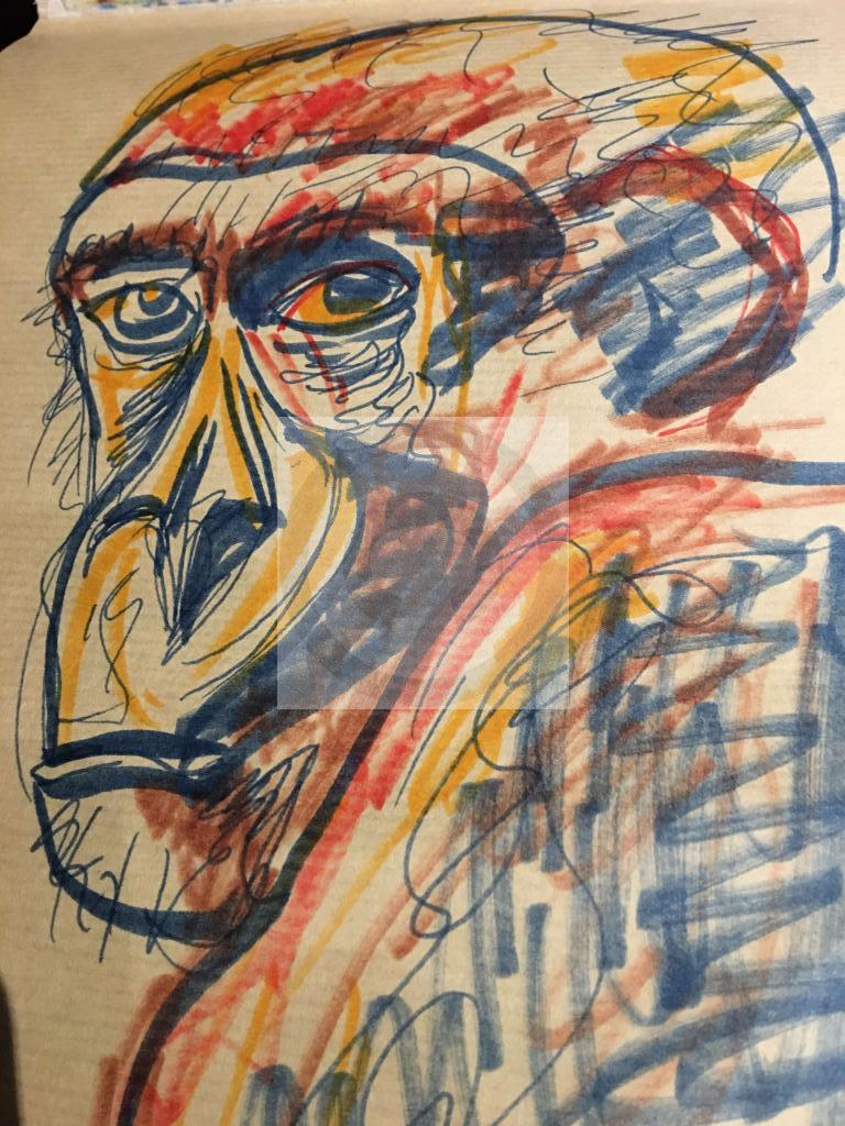 Peinture Autoportrait Du Peintre Rasbail Sur Exposition Peinture