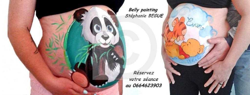 belly painting 1 stéphanie BEGUE
