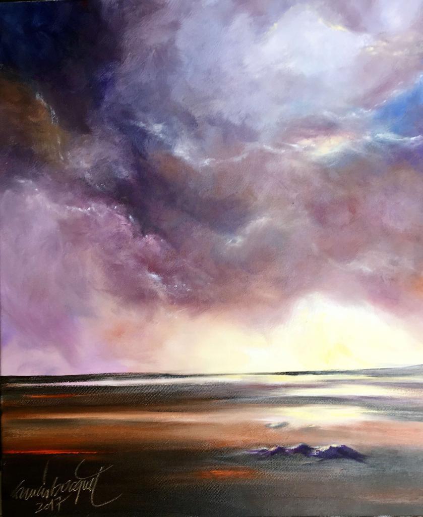 Peinture Ciel d'orage du peintre Francis BOCQUET sur Exposition Peinture