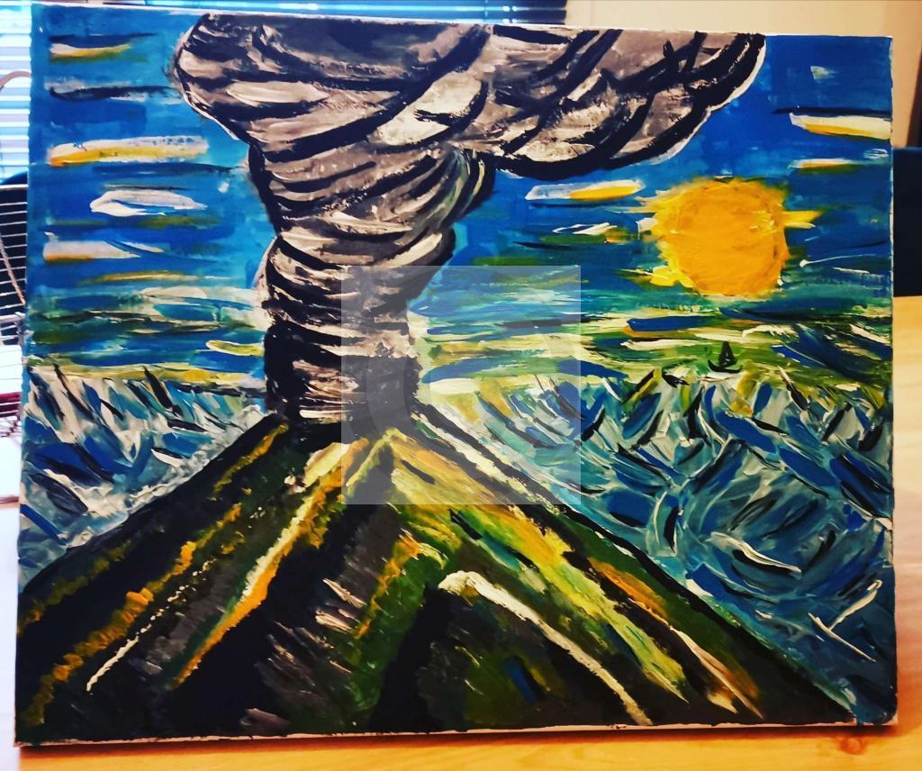 Peinture De l'ombre à la lumière du peintre KD sur Exposition Peinture