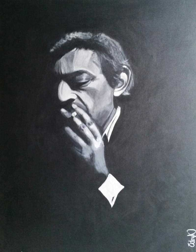 Gainsbourg black and White portrait