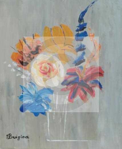 Carte virtuelle Bouquet bleu