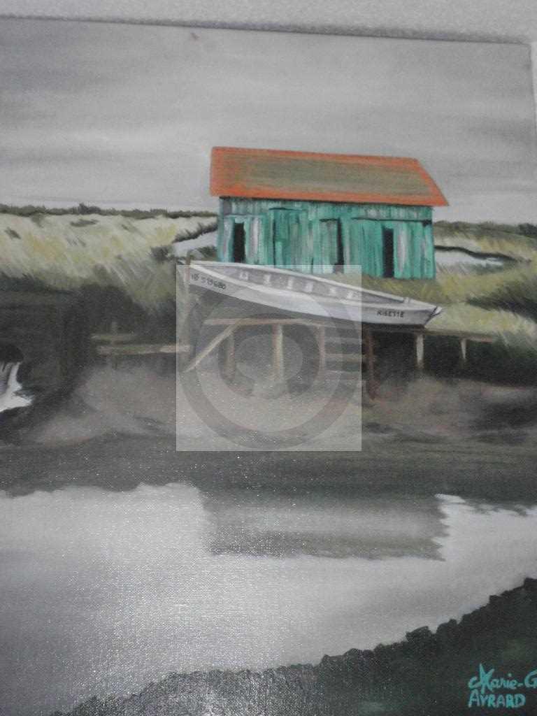 Île d'Oléron: la cabane verte, vers Boyardville