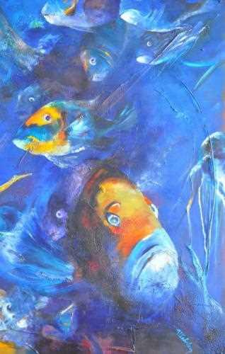 Peinture regards de poissons exposition peinture for Donner des poissons