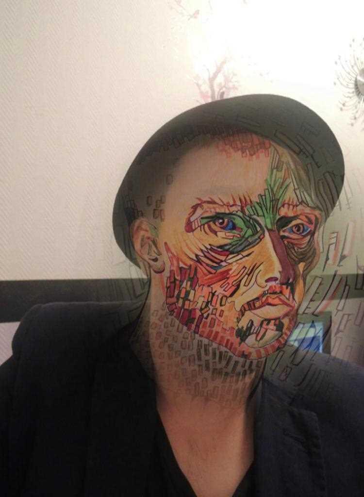 Carte virtuelle Art performance! la fragmentation, Vincent van Gog