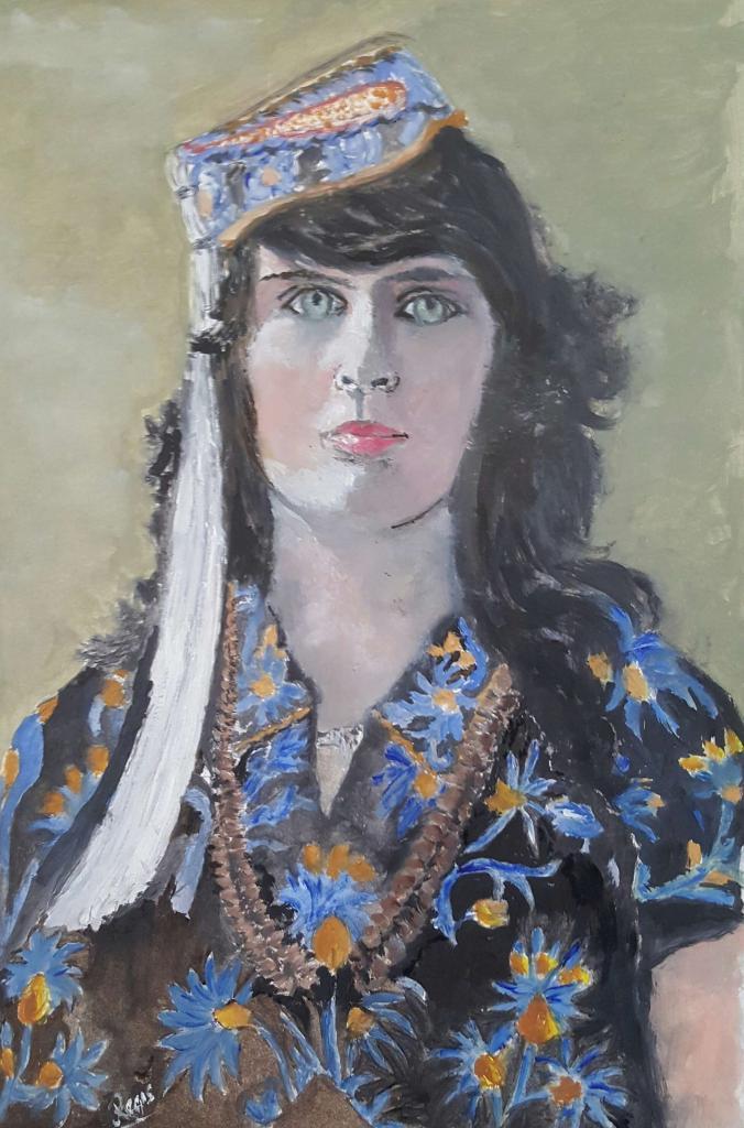 Carte virtuelle Jeune Tangeroise en costume de fête