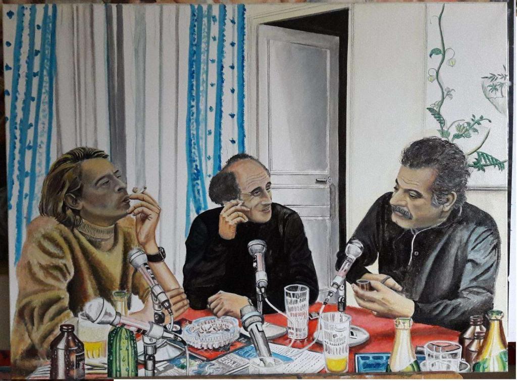 Carte virtuelle Jacques Brel Léo Ferré & Georges Brassens