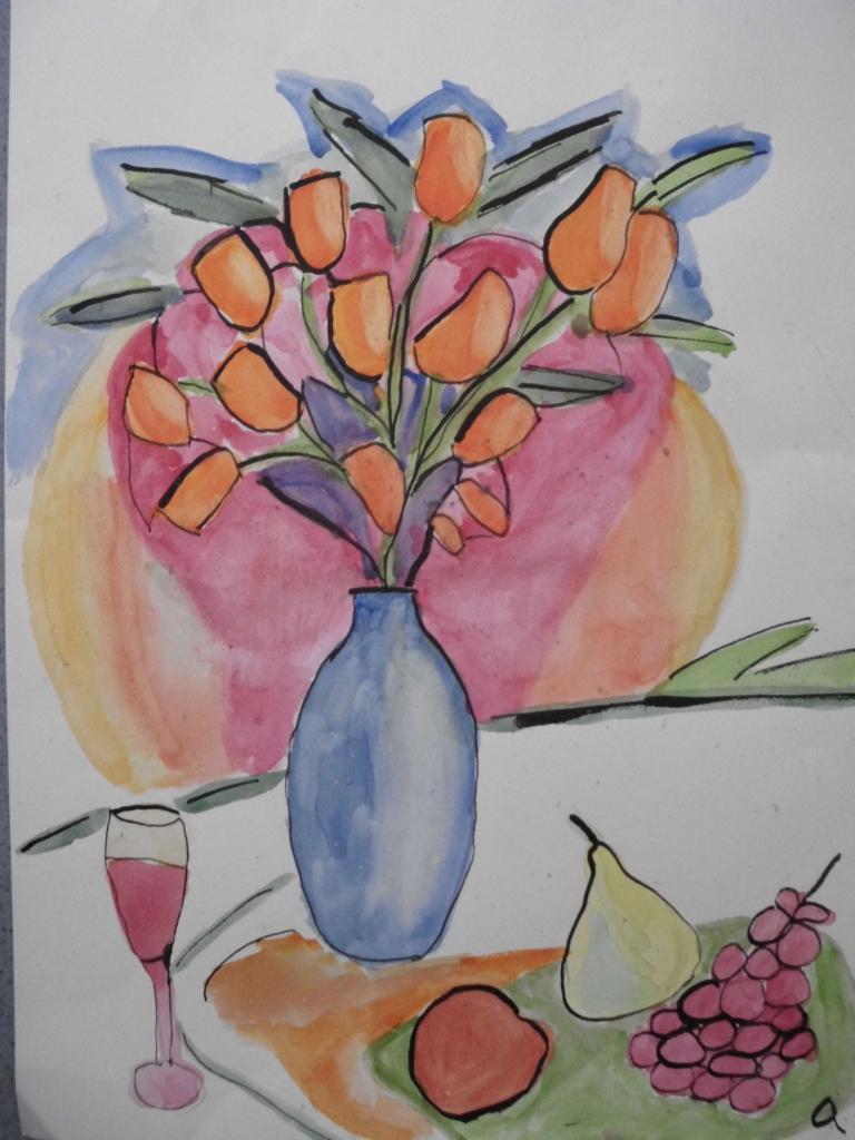 Carte virtuelle bouquet de fleurs