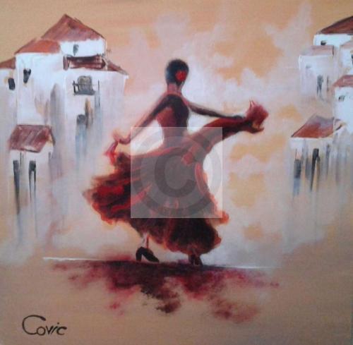 Peinture la danseuse andalouse du peintre jean COVIC sur ...