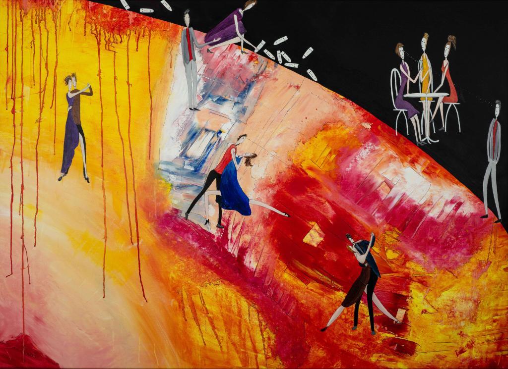 Carte virtuelle Danse colorée