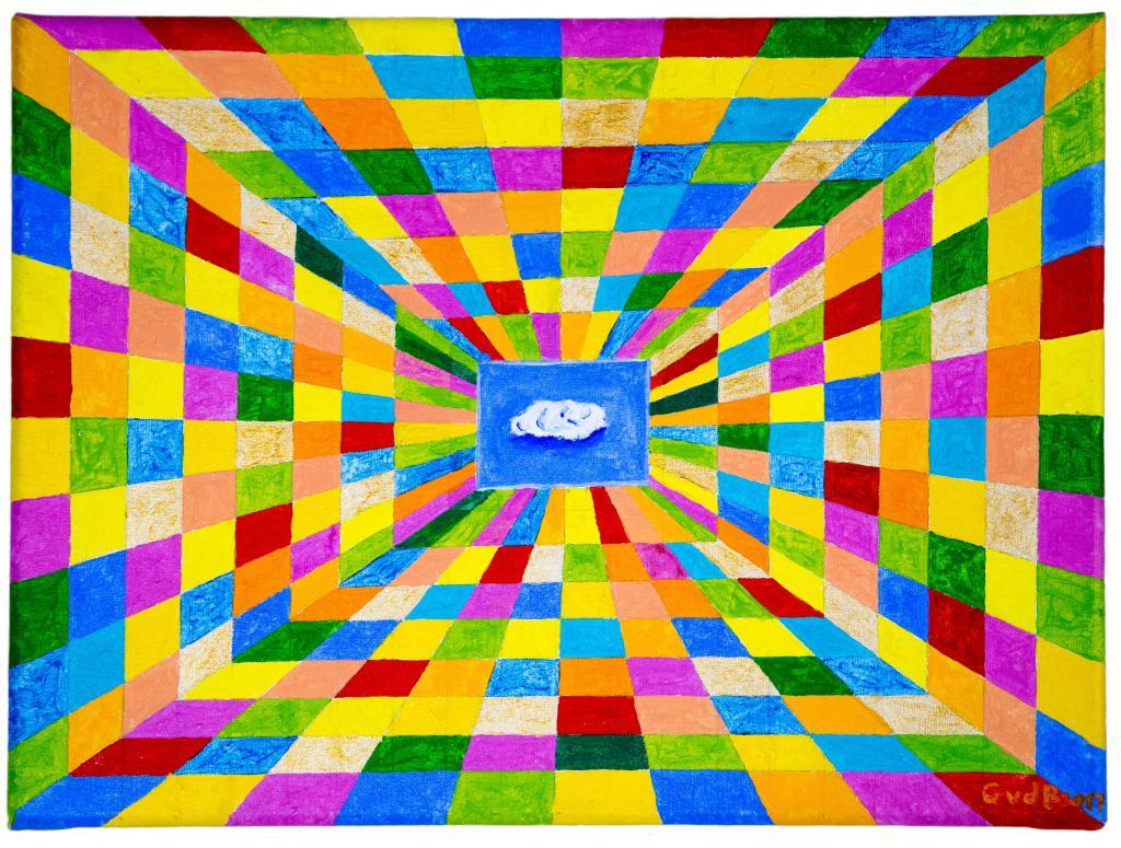 Carte virtuelle Perspective nuageuse