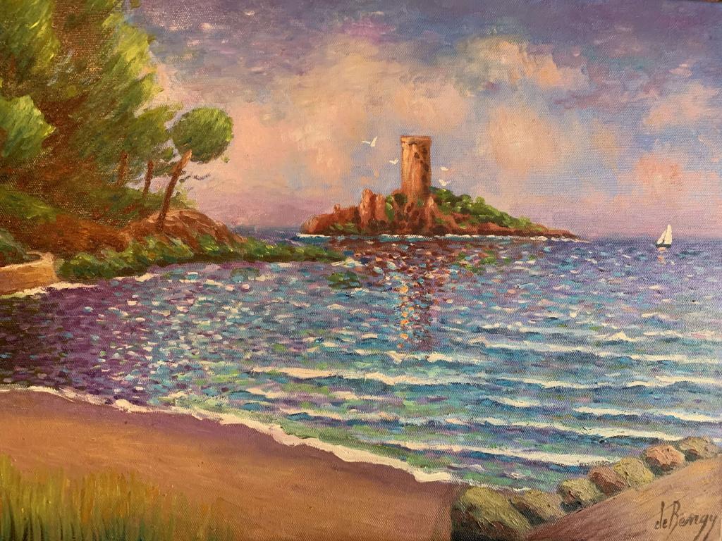 Peinture L Ile D Or A Saint Raphael Du Peintre Patrick De Bengy Sur Exposition Peinture