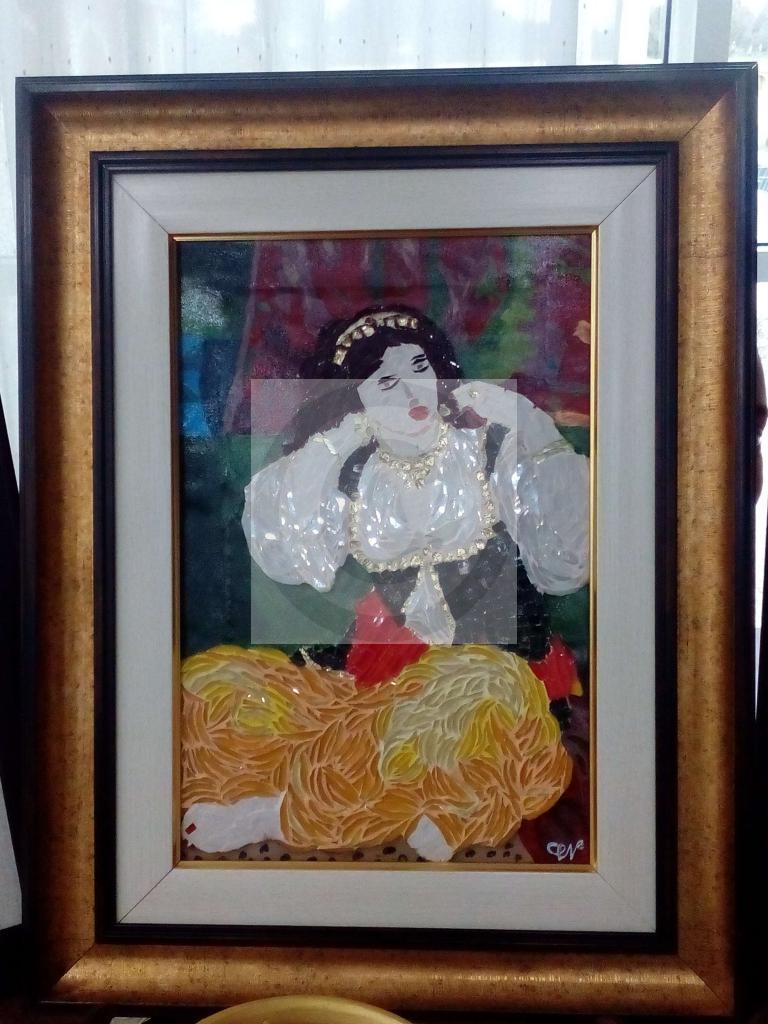 Peinture L Odalisque Du Peintre Chaouane Nawal Sur Exposition Peinture