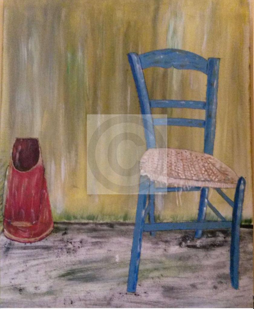 Peinture La Chaise Du Peintre Papyjj Sur Exposition Peinture