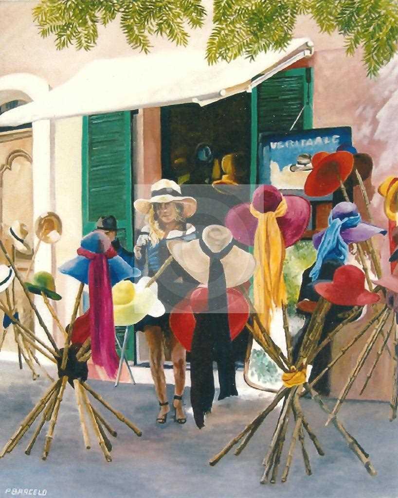 Artiste Peintre St Tropez peinture la chapeliÈre de st tropez du peintre barcelopierre