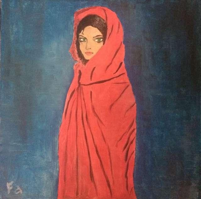 Peinture La Femme En Rouge Du Peintre Jimmy Sur Exposition Peinture