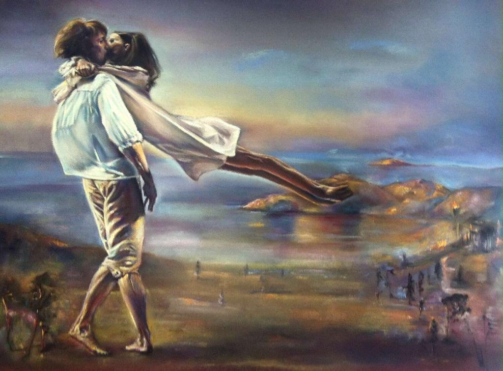 """Peinture """"Le baiser"""" du peintre Michèle Rais sur ..."""