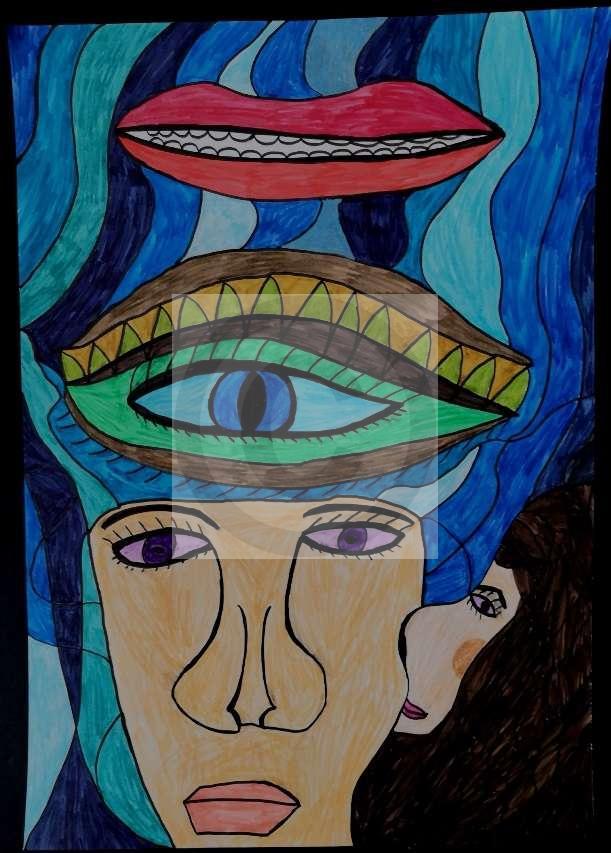 Peinture Le Baiser Du Peintre Mh Sur Exposition Peinture