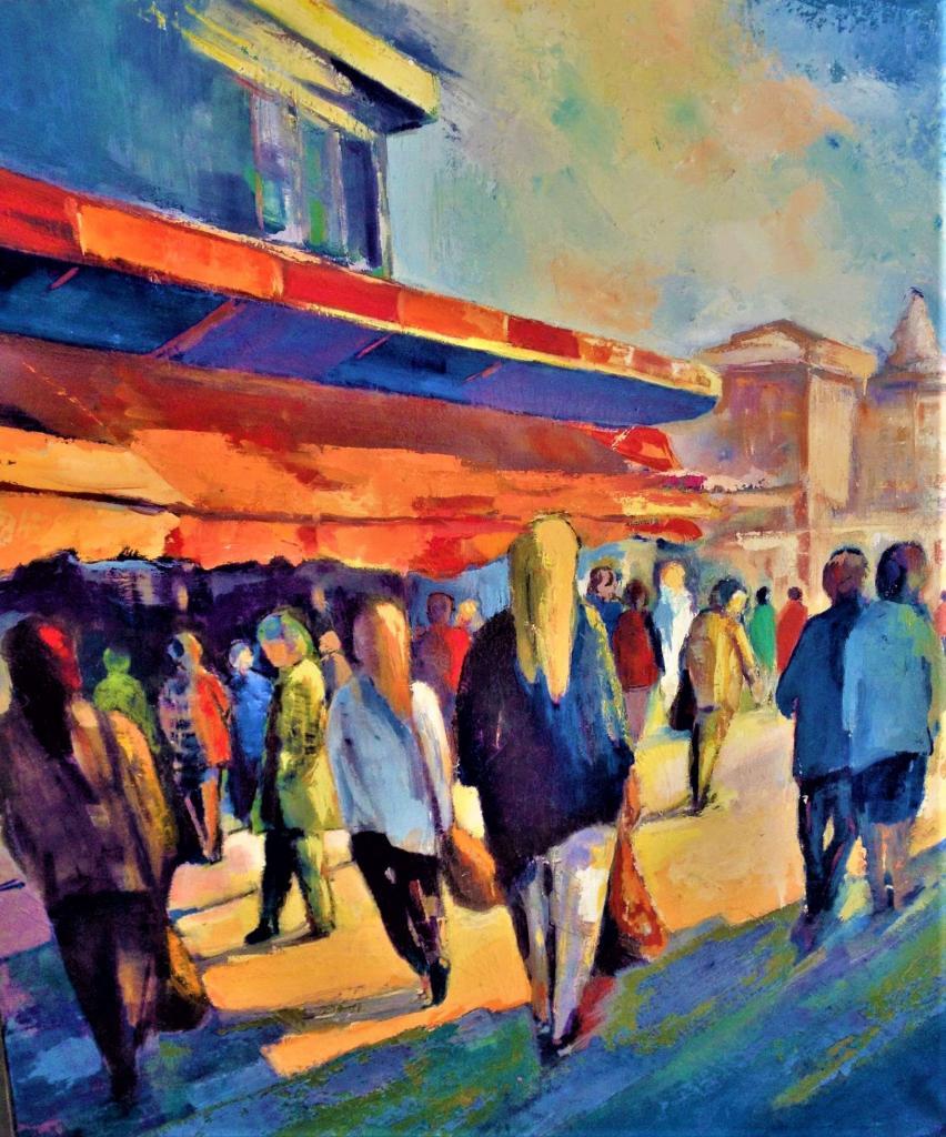 Artiste Peintre Contemporain Toulouse peinture le marché de toulouse - exposition peinture