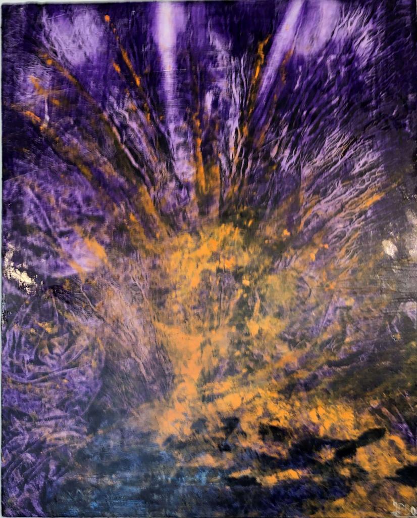 Peinture Le Volcan Du Peintre Jean Paul Bodin Sur Exposition Peinture