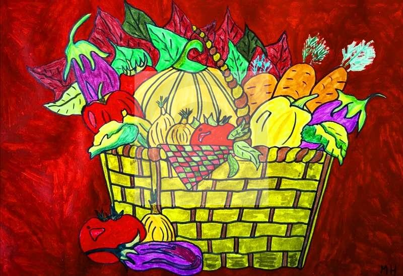Peinture Légumes de saison du peintre MH sur Exposition Peinture