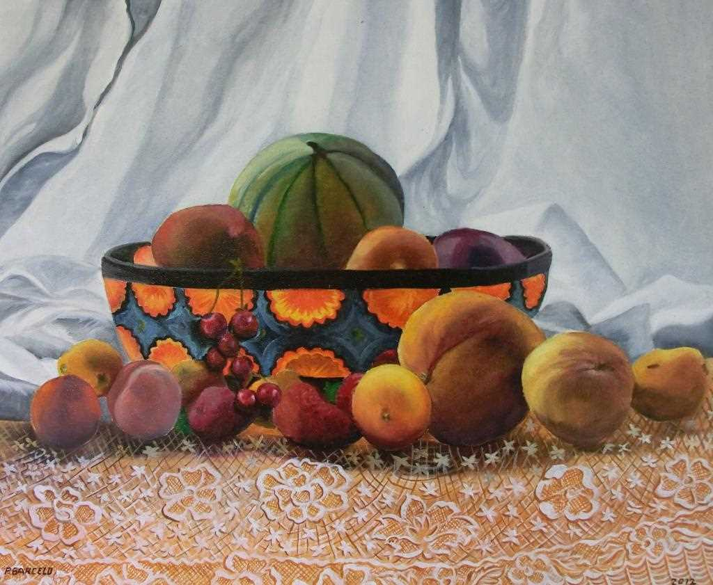 Peinture LES FRUITS D'ETE du peintre barcelopierre sur Exposition Peinture