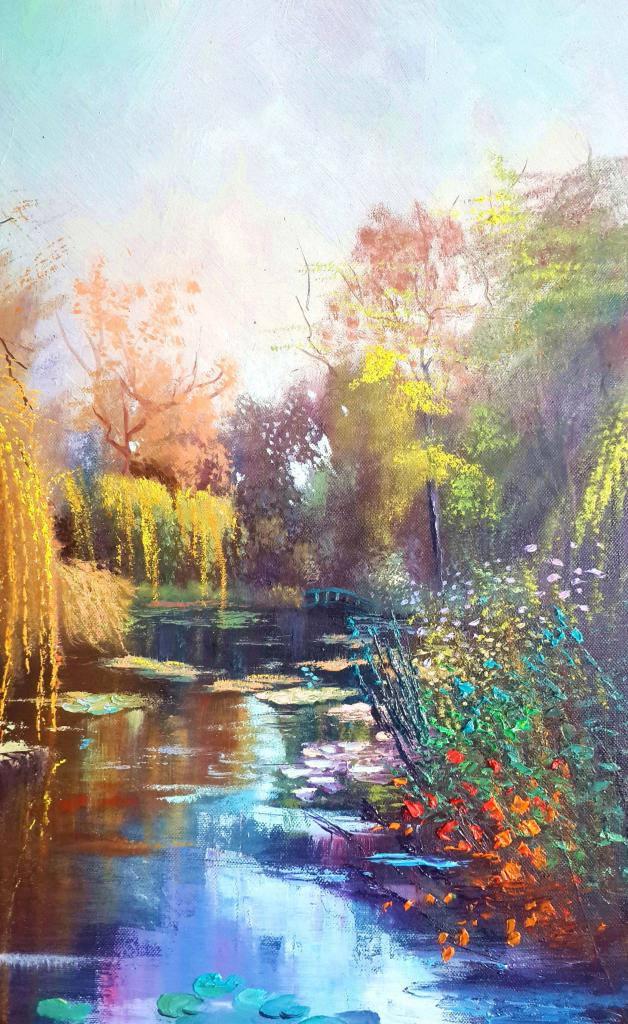 Peinture les jardins de claude monet du peintre bernard ...