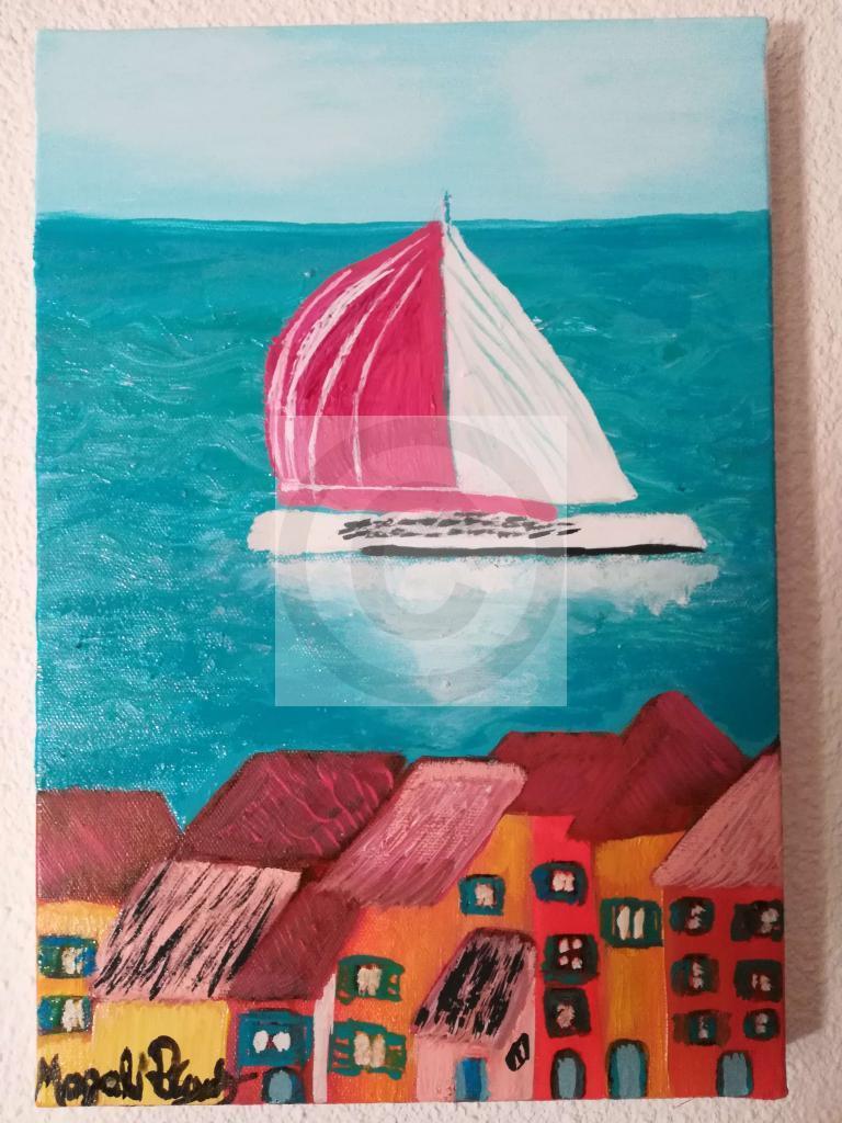 Artiste Peintre St Tropez peinture méditerranée saint tropez du peintre nina magali