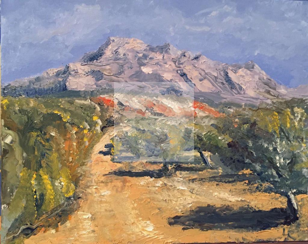 Peinture Montagne Sainte Victoire Du Peintre Laurent Rosso Sur Exposition Peinture