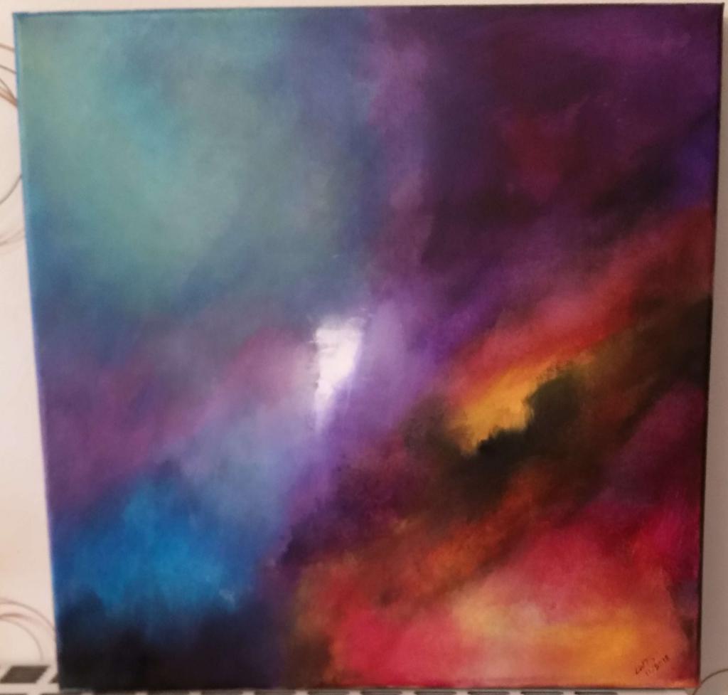 Peinture Nuit D Orage Abstrait Du Peintre Linda Wauters Sur Exposition Peinture