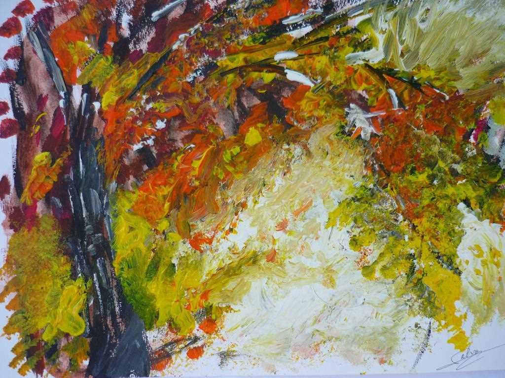 Peinture Paysage d'automne du peintre SAMBITO sur Exposition Peinture