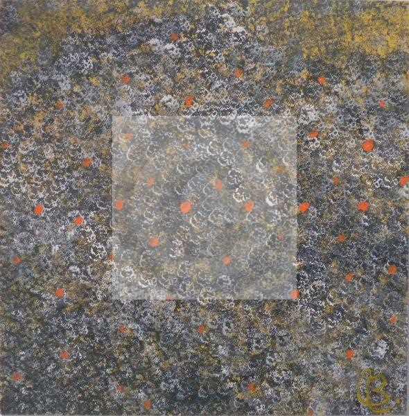 Peinture Peau de truite 2010 du peintre Isabelle C. Bruggimann sur Exposition Peinture