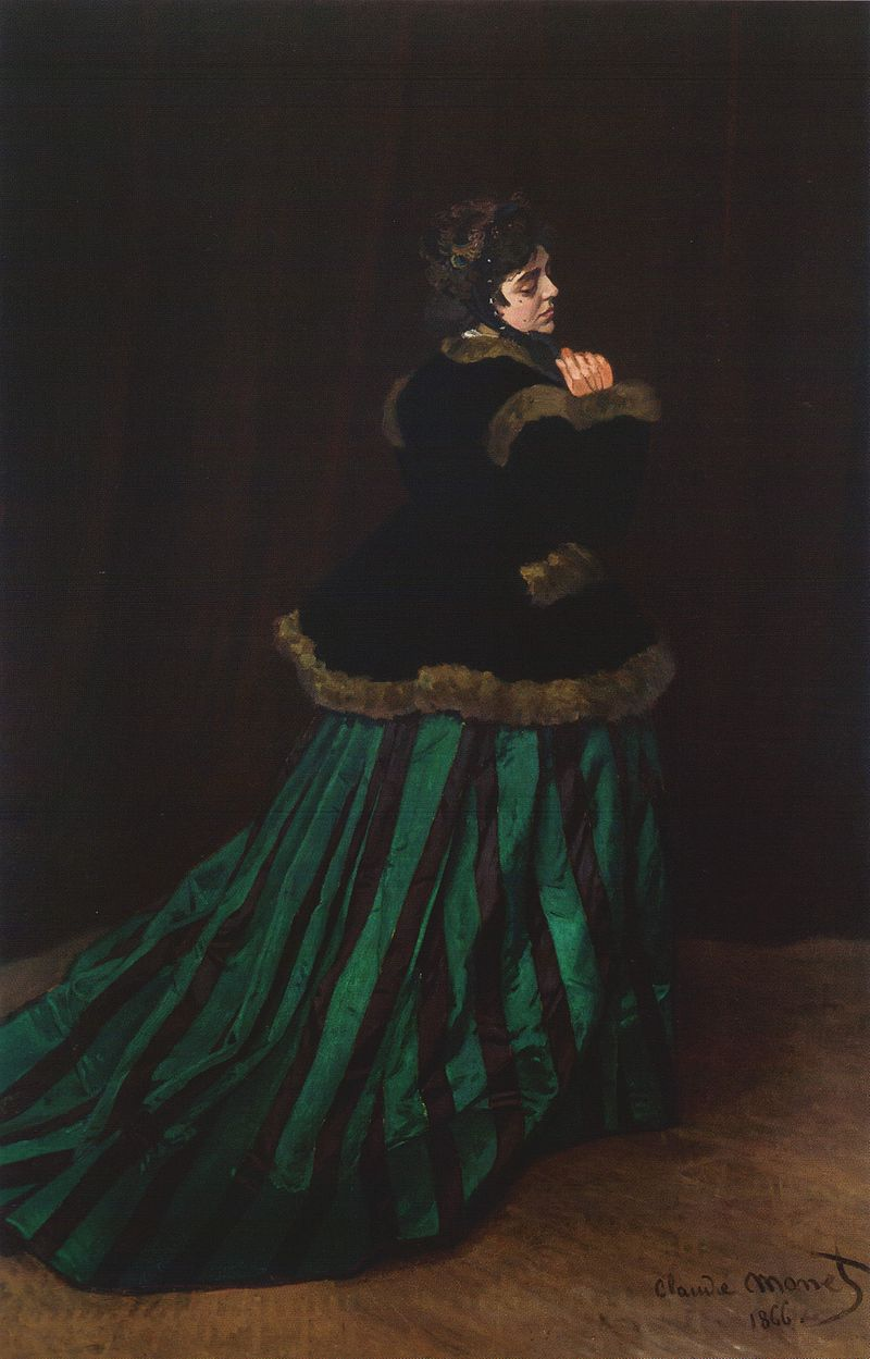 La Femme en robe verte