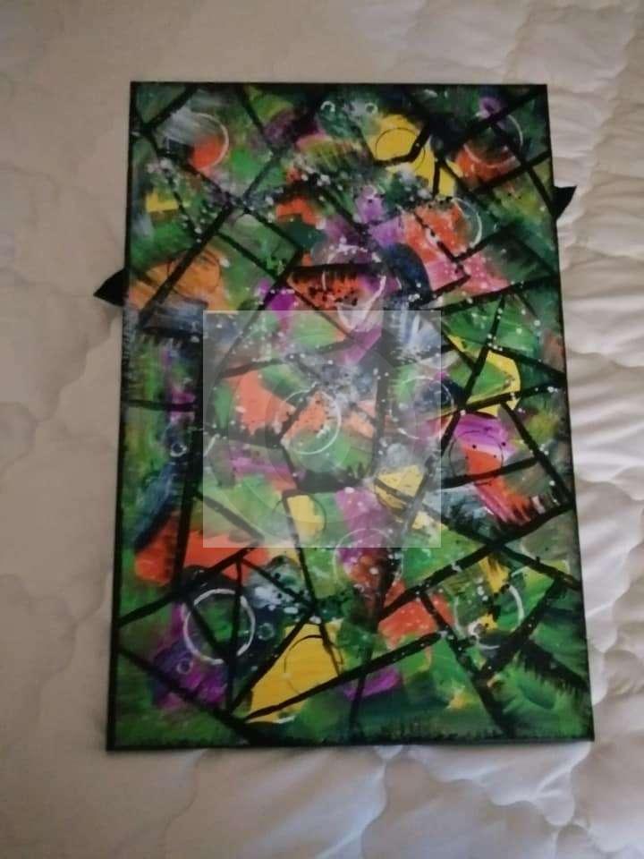 Peinture Periode Cubisme Du Peintre Sylviane Sur Exposition Peinture