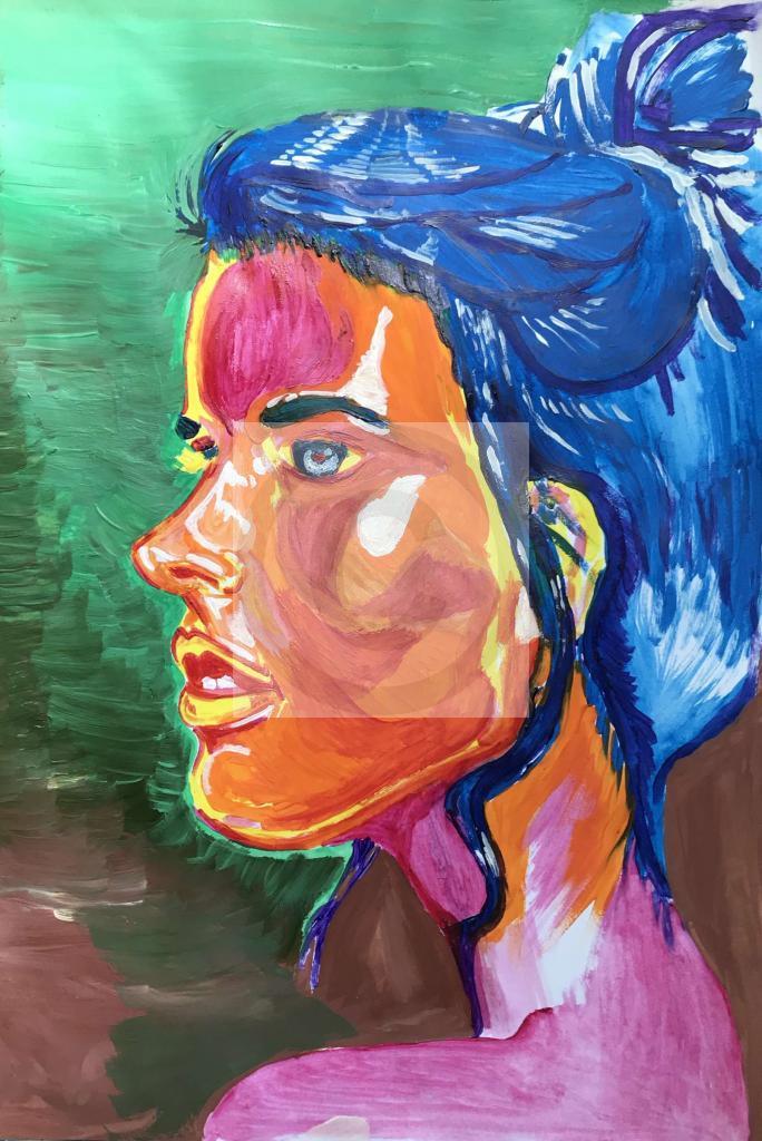 Peinture Portrait Modele Feminin Du Peintre Adakine Forrest Sur Exposition Peinture