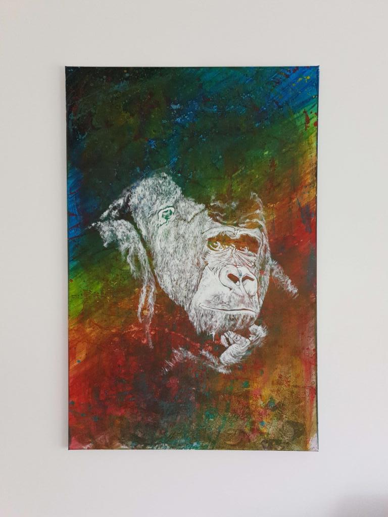 Peinture Reflet Des Pensees 2 Du Peintre Annabelle Gogibu Sur Exposition Peinture