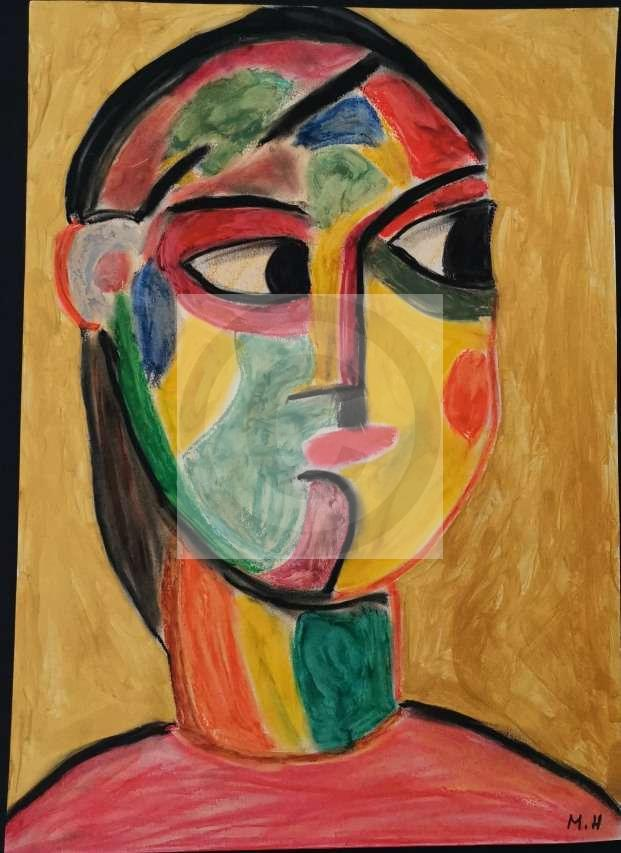 "Peinture ""Regard  de travers"""