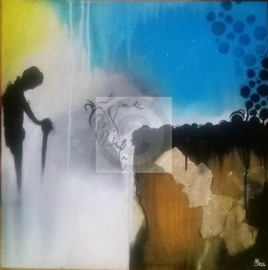 Peinture Solitude Du Peintre Nour Sur Exposition Peinture