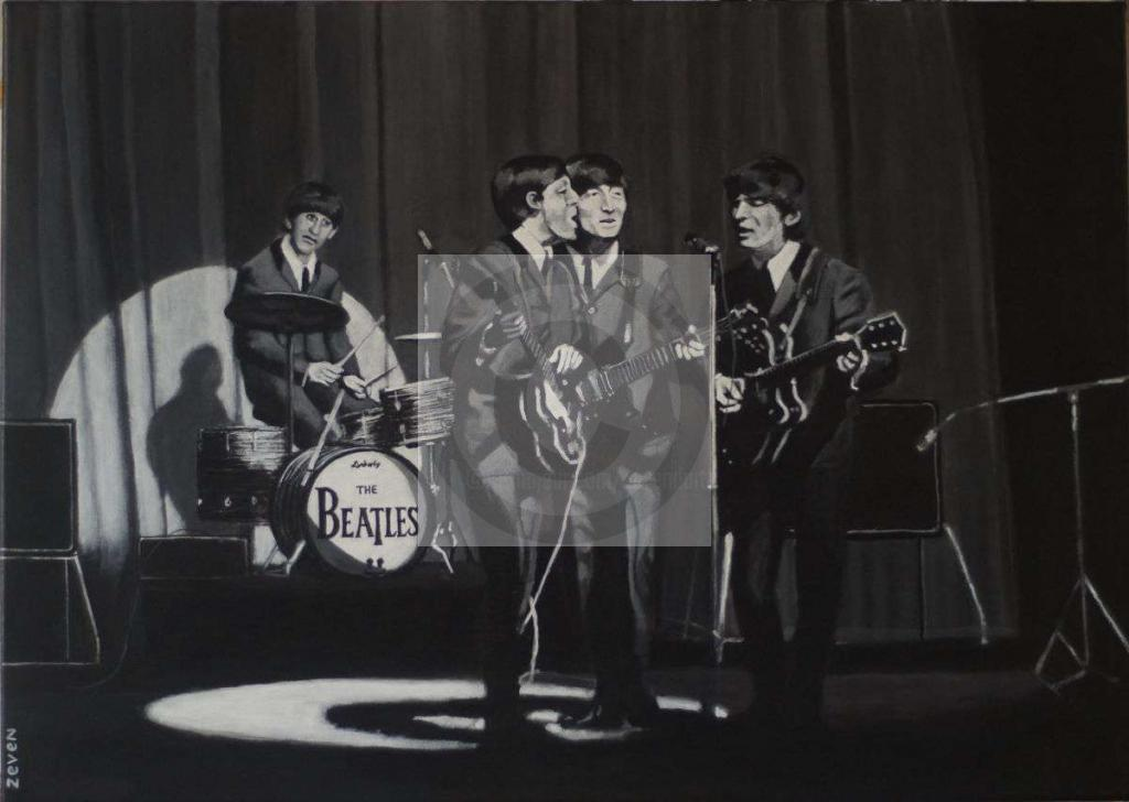 Peinture The Beatles at the Olympia Paris 1964 (2019)