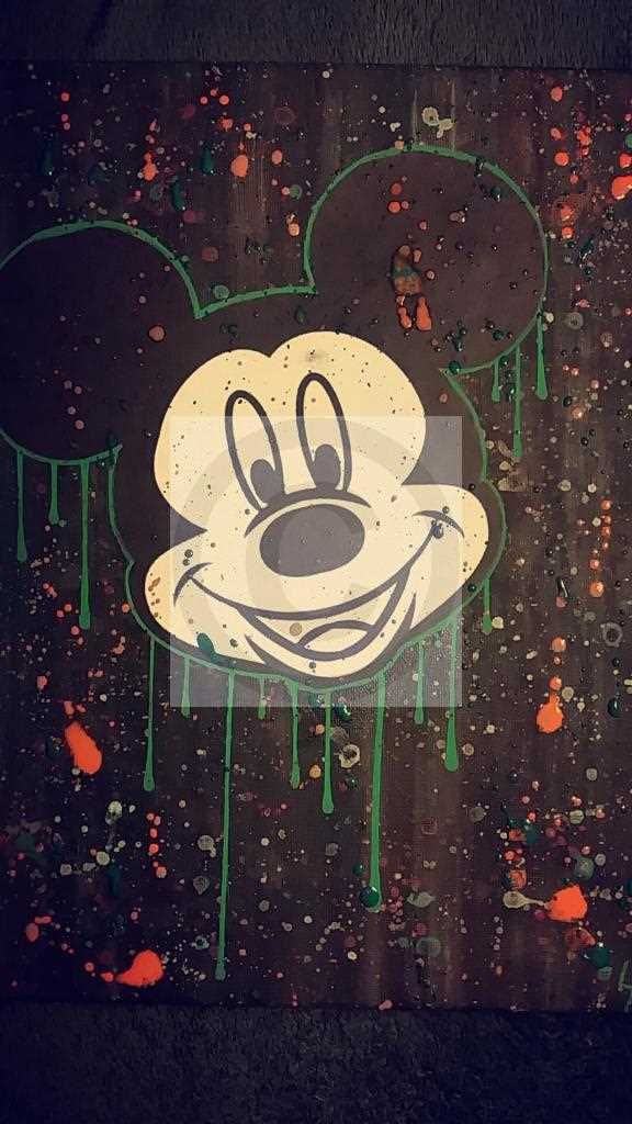 Toile pop art Mickey Mouse