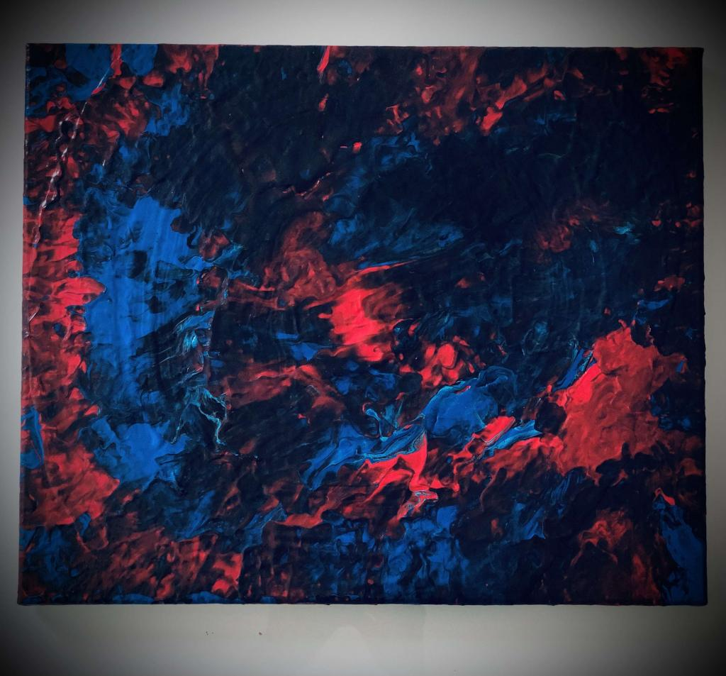Peinture Volcan Du Peintre Nd Sur Exposition Peinture